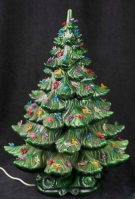 Vtg 70 S Atlantic Mold 22 Quot Ceramic Green Christmas Tree