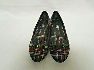 Rock-amp-Republic-Women-039-s-Flat-Shoes-Multicolor-Monogrammed-Plaid-Flat-Size-6M