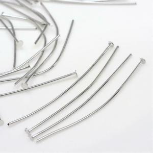 4046 100 Kettelstifte 60x0,7mm Nietstifte Prismenstifte Pins Stifte Silber