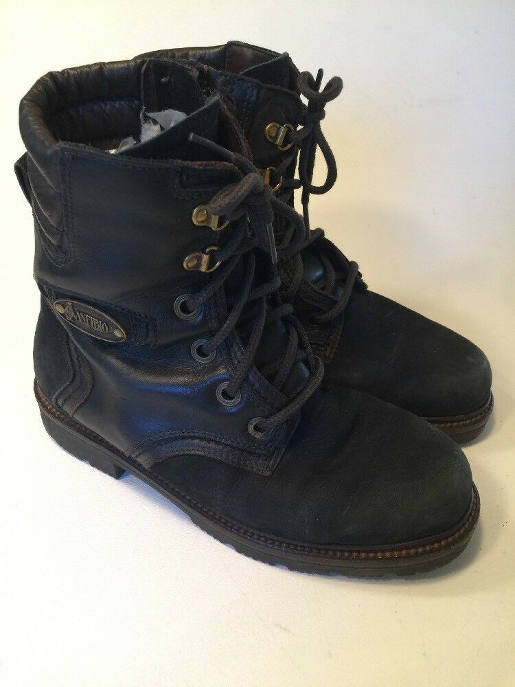 Anfibio Waterproof Leather Boots Lined Size US 7.5 EU Size 37 Lucas De Luca
