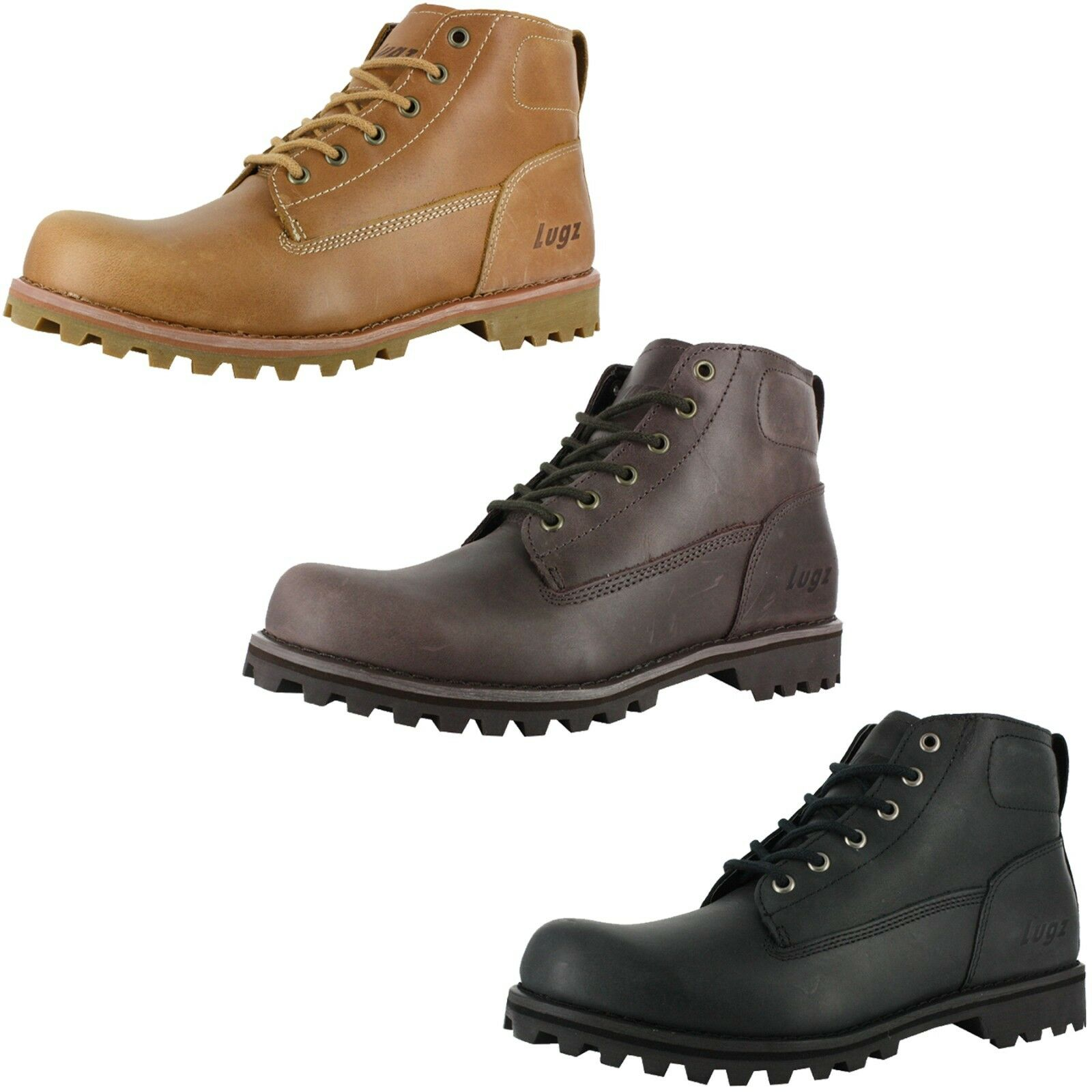 hommes LUGZ METRO LACE UP COMFORT CUSHION CASUAL bottes