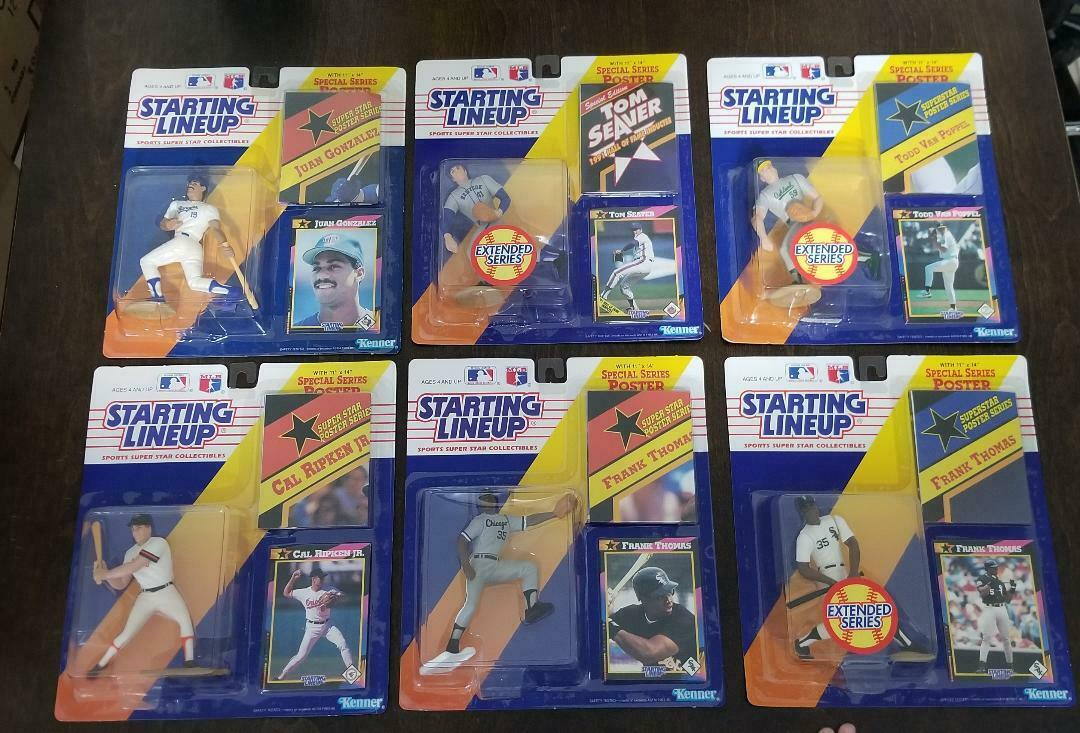 Starting Lineup MLB 1992 Thomas Poppel Seaver Ripken Gonzales Gonzales Gonzales Lot of 6 e5ab33