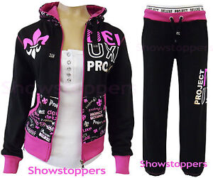 GIRLS-TRACKSUIT-Girls-Hoodie-POCKET-SUIT-CLOTHING-Joggers-Age-7-8-9-10-11-12-13