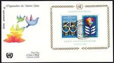 UNO Block 7 FDC, NY 1980, First Day Cover