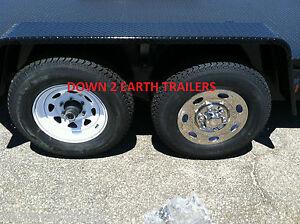 "2 NST15 Phoenix USA 15/"" Stainless Trailer Wheel Hub Caps Rim Covers; Bolt On"
