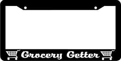 HATCHBACK MAFIA GETTER JDM TUNER WAKABA RACING Black License Plate Frame NEW