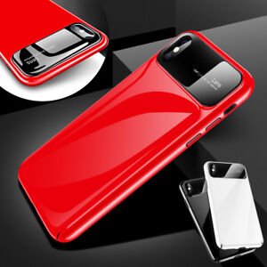 new style 3fa40 e7b52 Details about For iPhone X 7 8 Plus Luxury Tempered Glass Camera Protector  Hard PC Cover Case