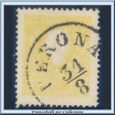 Italia ASI 1859 Lombardo Veneto 2 soldi giallo n 28 Usato Antichi Stati Italiani
