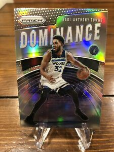 2019-20 Panini Prizm KARL-ANTHONY TOWNS SILVER DOMINANCE Wolves #15