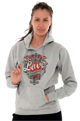 Washington Evergreen State Fashion Souvenir Womens Hooded Pullover Sweatshirt