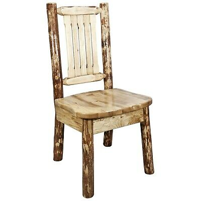 Log Dining Room Chairs Amish Made Rustic Kitchen Chair Lodge Cabin Style |  eBay