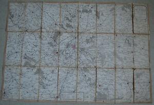 3 cartes 1773 environs de Paris 1774 Plan routier ville et faubourg de Paris
