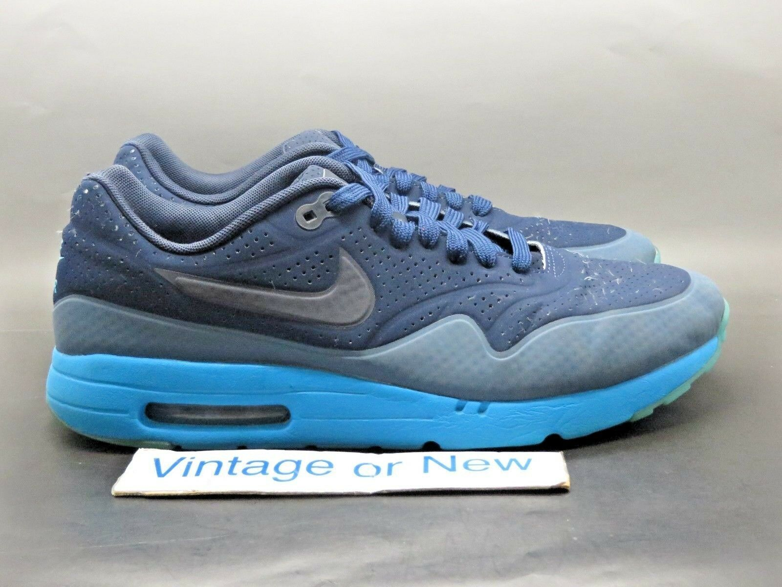 Nike Air Max 1 Ultra Moire Navy Blue Running Shoes 2015 sz 10.5