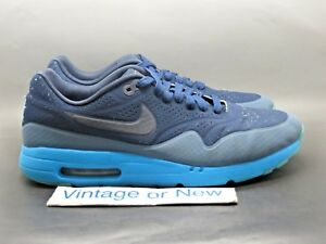 low cost 94485 0e1c4 Image is loading Nike-Air-Max-1-Ultra-Moire-Navy-Blue-