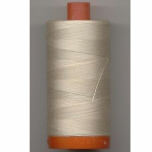 Aurifil Thread #6722 Sea Biscuit Cotton Mako 50 wt 1422 yard spool