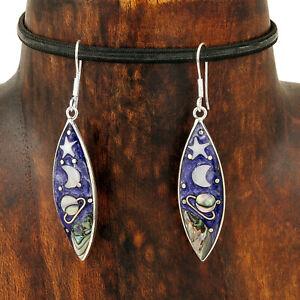 Mystical-Heaven-Celestial-Purple-Stars-Moon-and-Planets-Abalone-Earrings