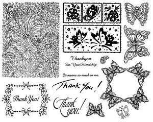 Unmounted-Rubber-Stamp-Sheets-Butterfly-Butterfly-Background-Thank-You-Frame