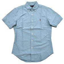 Polo Ralph Lauren Cyan Pony Slim Fit Oxford Short Sleeve Shirt XL ...