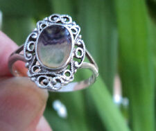 Sterling Silver Derbyshire Blue John Ring 1977 Castleton , Hope Valley - size O
