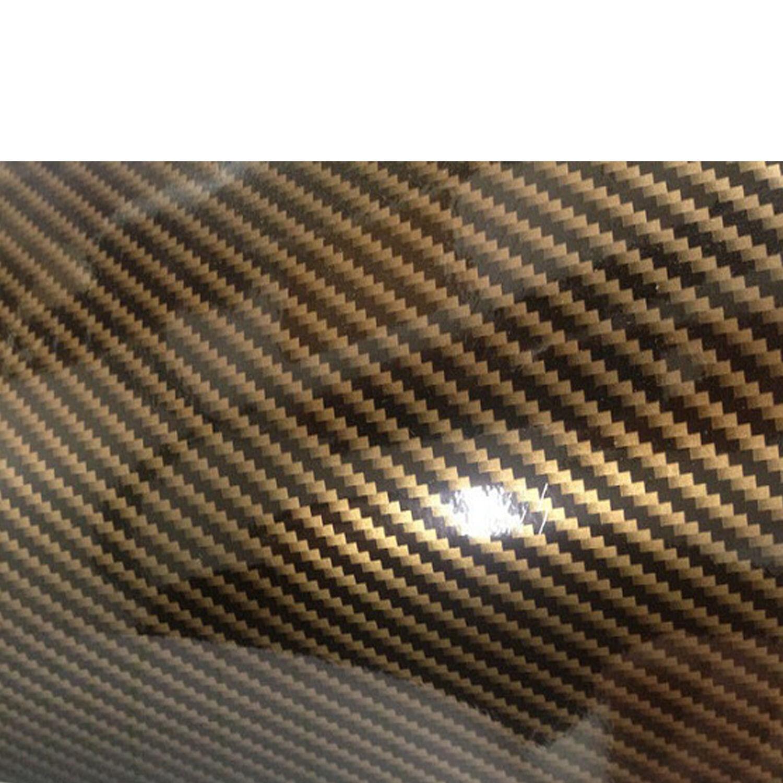 Carbon Folie Gold Schwarz PREMIUM 2D 3D 3D 3D 4D 5D Autofolie klebefolie 8e3f75