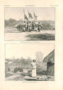 Kaga-Bandoro-Fort-Crampel-Republique-centrafricaine-Cheik-Senoussi-GRAVURE-1902