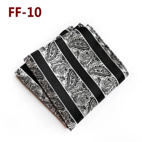 25*25cm Men/'s Silk Handkerchief Hanky Man Paisley Floral Pocket Square UK