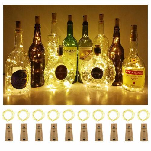 Warm Wine Bottle Cork Shape Light 20//30//50 LED Night Fairy String Lights Lamp A#