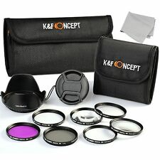 12in1 Closeup UV CPL FLD Lens Filter Kit For Sony A200 A450 A300 Alpha 55mm DSLR