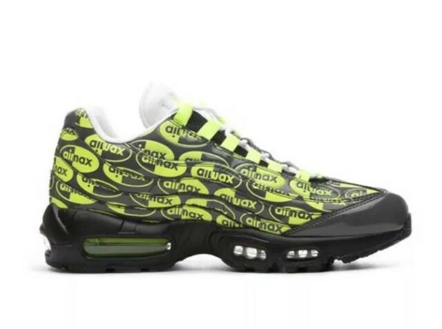 Nike Air Max 95 Premium Mens Running Shoes Black Ash Volt White Size 11