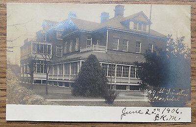 ST TIMOTHYS HOSPITAL - ROXBOROUGH PHILADELPHIA PA - 1906 Real Photo Postcard