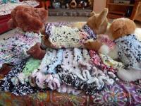 Dog Apparel Soft panda Pals Sweater/dress W/ruffles Assorted Colors & Sizes