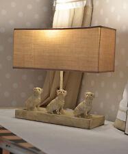 Vintage Tischlampe Shabby Chic Lampe Mops Tischleuchte Mopsfigur