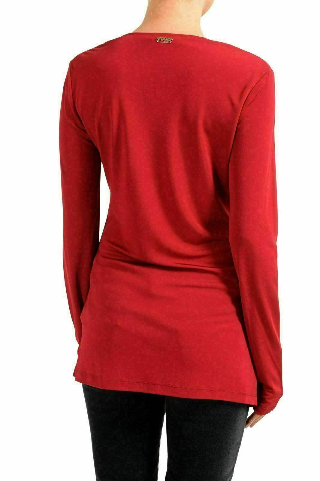 Versace Jeans da Donna Rosso Manica Lunga collo a Lupetto Lupetto Lupetto Maglia USA XL It 46 118bfc