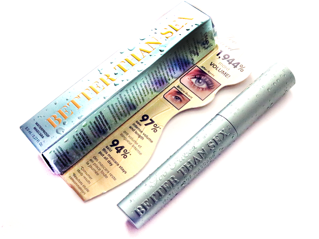 Too Faced BETTER THAN SEX Waterproof Mascara, Black Full Size 0.27 oz.