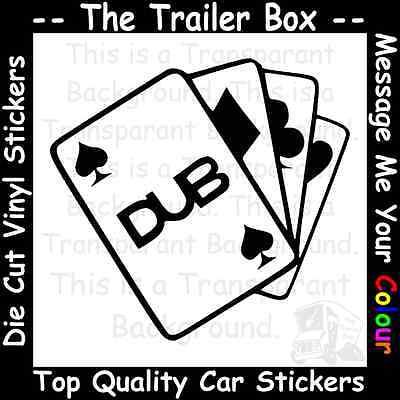DUB CARDS Funny Car/Window JDM VW VAG EURO Vinyl Decal Sticker