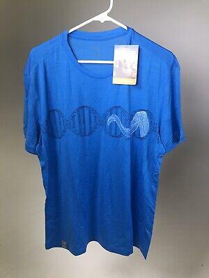 NEW! ORANGE//GREEN ICEBREAKER 100/% Merino Wool Men/'s Tech T Lite SS Shirt