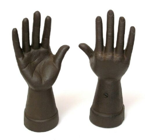 "Cast Iron Hand Ring Holder Rust Finish 8 1//4/""tall Vanity Deco Jewelry 0170-05636"