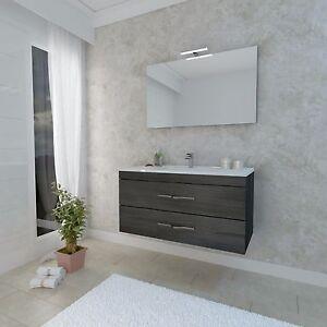 Mobile da bagno moderno in legno completo 90cm vari colori SILVANA ...