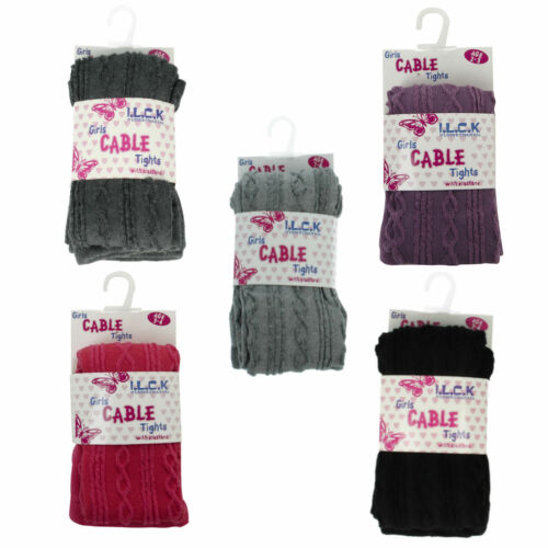 46b184 Girls I.L.C.K Cable Tights