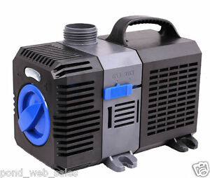 2200 gph submersible pond pump adjustable inline fountain for Inline pond filter