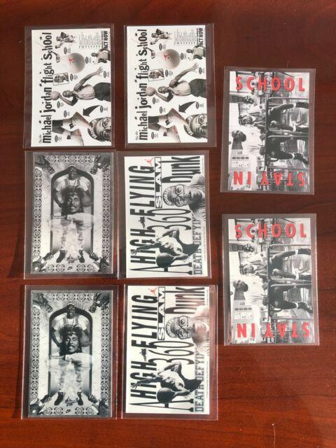 1991 Nike Michael Jordan Spike Lee (x8) Card Lot - 2 Copies of each card