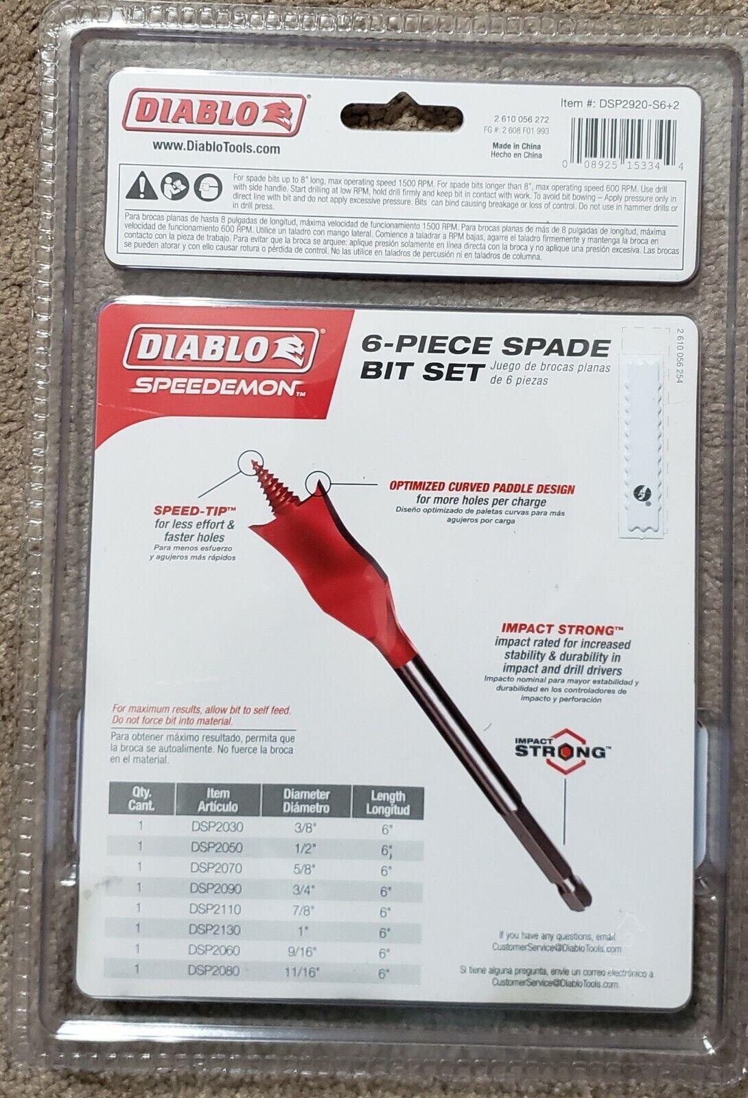 SPEEDemon Spade Bit x 16 in Diablo DSP3060 1 in