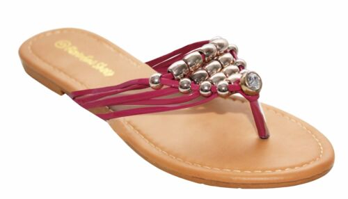 NEW WOMENS LADIES TOE POST SUMMER BEACH HOLIDAY FLAT SLIP ON SANDALS SHOES SIZE