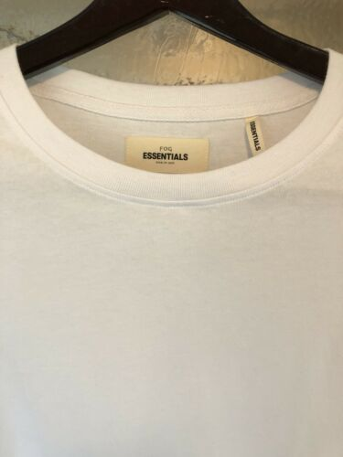 FOG-FEAR OF GOD X PACSUN ESSENTIALS BOXY GRAPHIC WHITE LONG SLEEVE T-SHIRT!!!