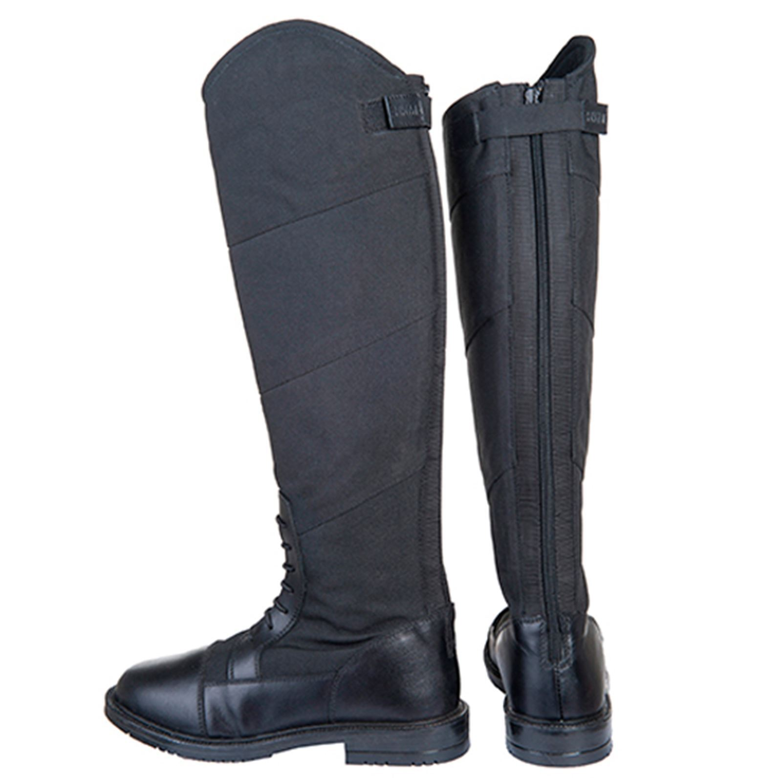 HKM Junior Ladies Style Elasticated Waterproof Rubber Sole Horse Riding Boots