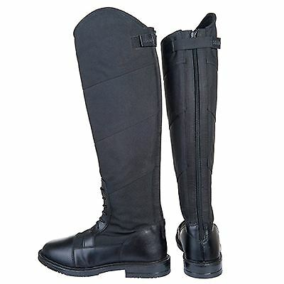 844edc567c3e07 HKM Junior Ladies Style Elasticated Waterproof Rubber Sole Horse Riding  Boots