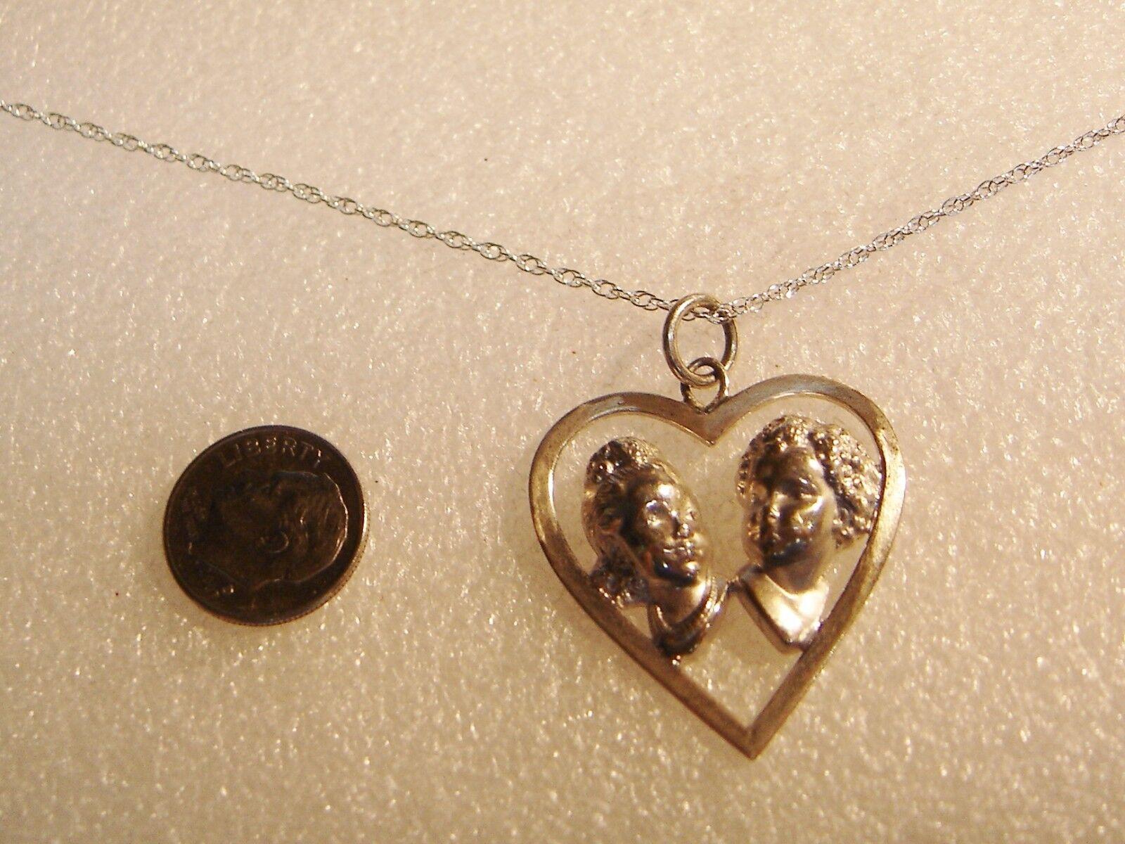 Wells argentoo Sterling Bambini Facce Ciondolo su 45 7 cm cm cm 2link Catenina N4-g 2de823