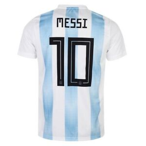 adidas Argentina Home MESSI  10 Soccer Jersey World Cup Russia 2018 ... 6fa4d3211583d