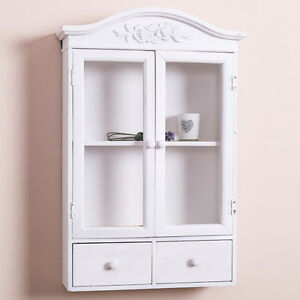 white shabby chic bathroom cabinet white glazed wall display cabinet shabby storage cupboard 24674