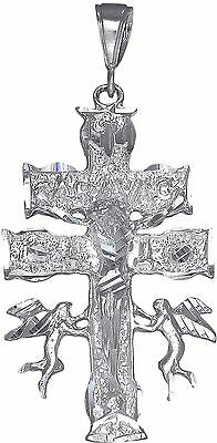 Caravaca Cross Sterling Silver 925 Pendant Charm Made in USA